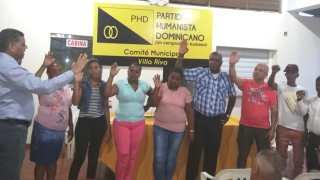 PHD Juramenta Comité Municipal de Villa Rivas, Provincia Duarte.