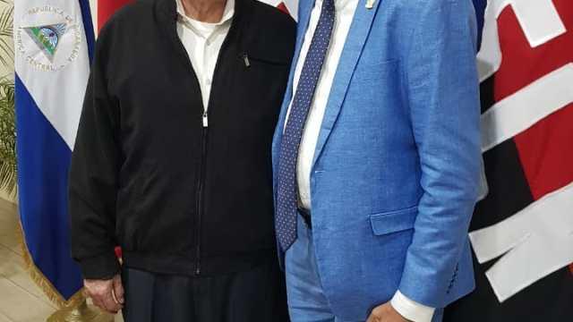 El Presidente de Nicaragua Daniel Ortega, Junto al Diputado Dominicano Ramón E. Goris