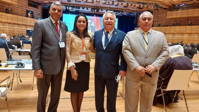 Exitosa misión de directivos del PARLACEN en Cumbre Global de Presidentes de Parlamentos en Viena, Austria.