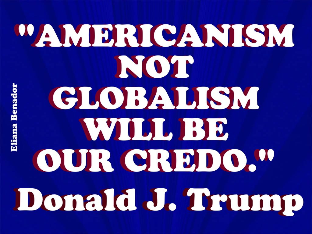 Image result for americanism not globalism