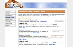 Zen Cart dados instalação no servidor