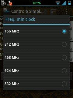 Samsung GT S5360 clock frequencias