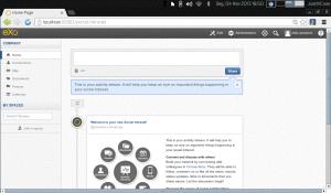 painel de controle administrativo dashboard - exo platform
