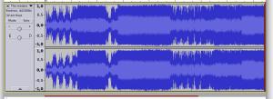 Audacity - área de edição de arquivos de áudio