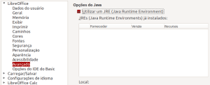 Java no LibreOffice