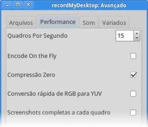 recordmydesktop performance configuração