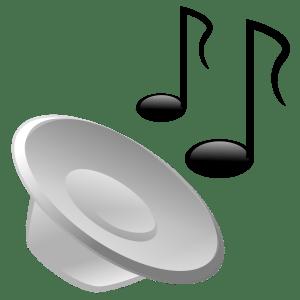 alto falante reproduzindo som