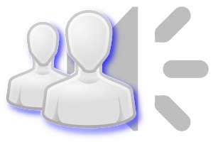 ícone speaker de audio e usuários