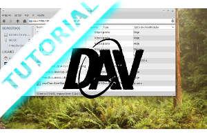 captura de tela do gerenciador de arquivos acessando um servidor WEBDAV