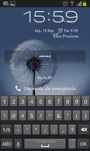 Tela de bloquio por senha no smartphone Android