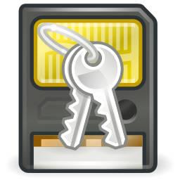Cartão de memória com chaves