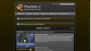 Site PlayDeb captura de tela
