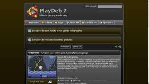 Site PlayDeb captura de tela