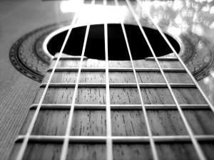 Cordas de um violão