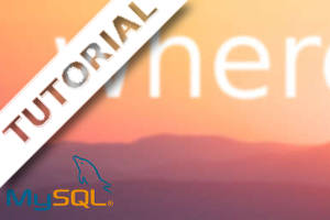 Capa do Tutorial como usar a cláusula where no MySQL