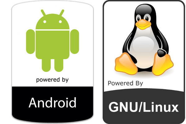 logo android and linux