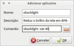 captura de tela - configurar aplicativo de sessão no ubuntu