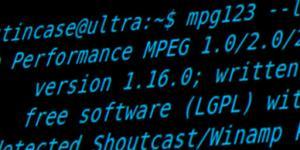 mpg123 captura de tela