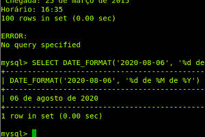 select date format in mysql
