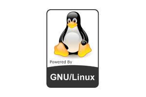 gnu linux badge