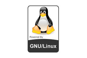 gnu linux badge