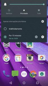 Opções Não Perturbe no Android