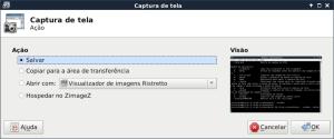 XFCE4-screenshooter aplicativo de captura de telas do XFCE