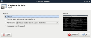 XFCE4-screenshooter aplicativo de captura de telas do XFCE