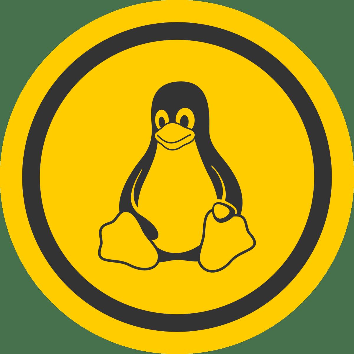 linux tux badge