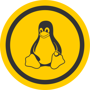 linux tux badge
