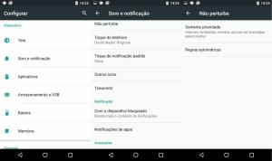 Android funções não perturbe