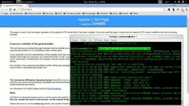 Apache server running on CentOS