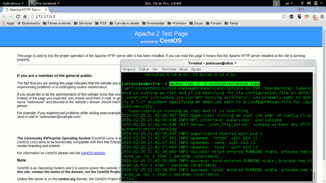 Apache server running on CentOS