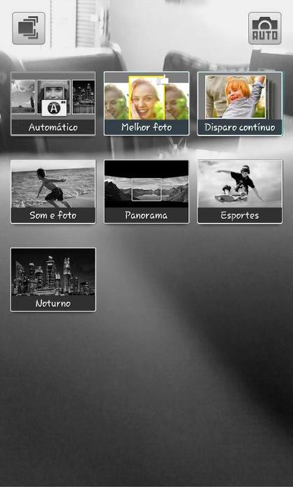 Samsung Galaxy - Disparo contínuo