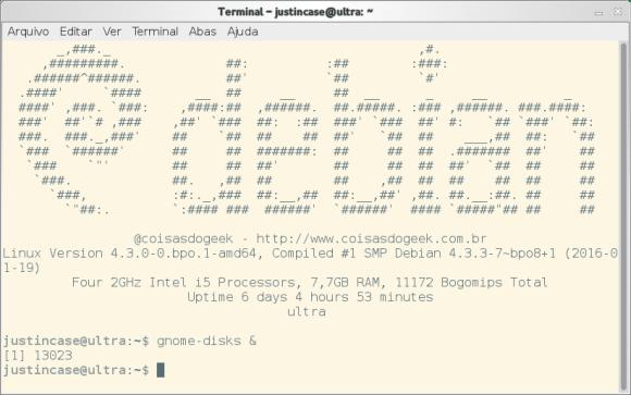 exemplo de uso do comando disown no Linux