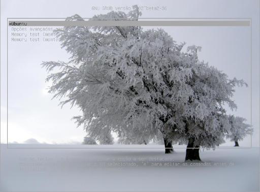 grub 2 com imagem de fundo clara
