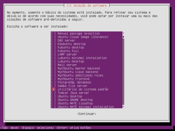 ubuntu minimal cd package selection