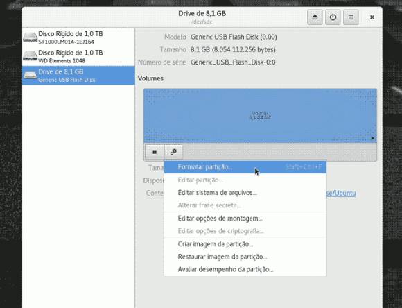 gnome-disk-utility drive selection
