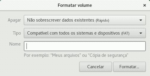 gnome disk utilities format menu