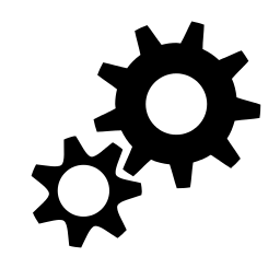 system run high contrast icon