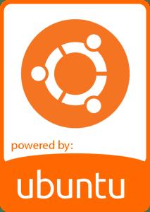 ubuntu flat orange badge