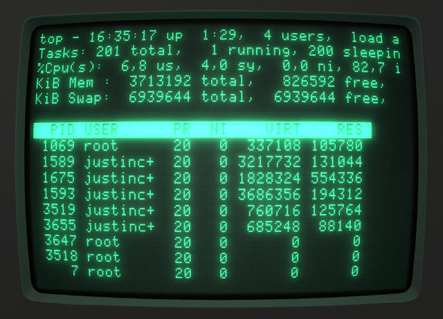 linux on a crt monitor