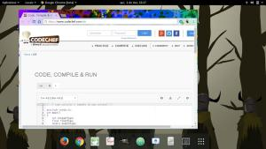 screen shot codechef website