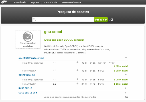 opensuse oneclick install cobol