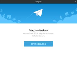 tela do inicio da instalação do telegram