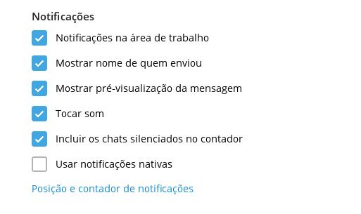 telegram notificações