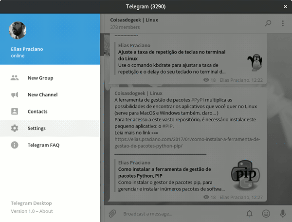 telegram settings configuration