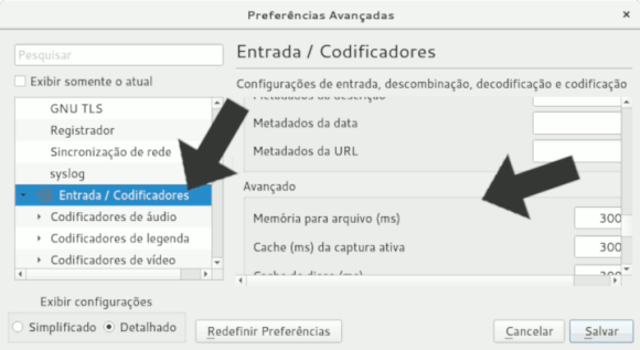 Ajustes detalhados do VLC Player