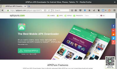 apkpure captura de tela web