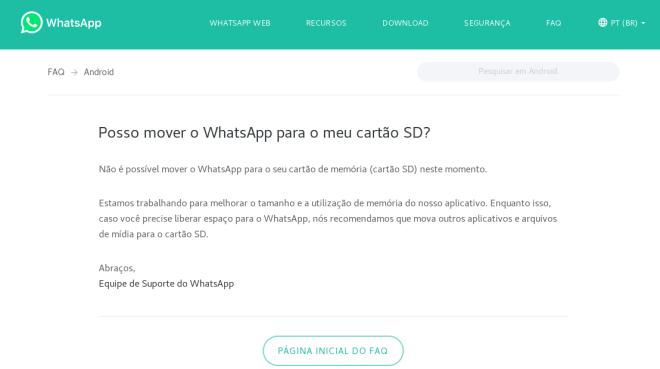 como mover o whatsapp para o cartão SD